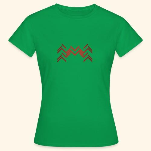 Lineas burdeos - Camiseta mujer