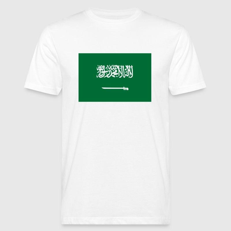 Flaga Arabii Saudyjskiej - Ekologiczna koszulka męska