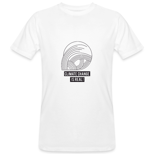 Climate change is real! - Männer Bio-T-Shirt