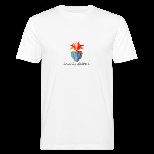 Hand aufs Herz - Männer Bio-T-Shirt