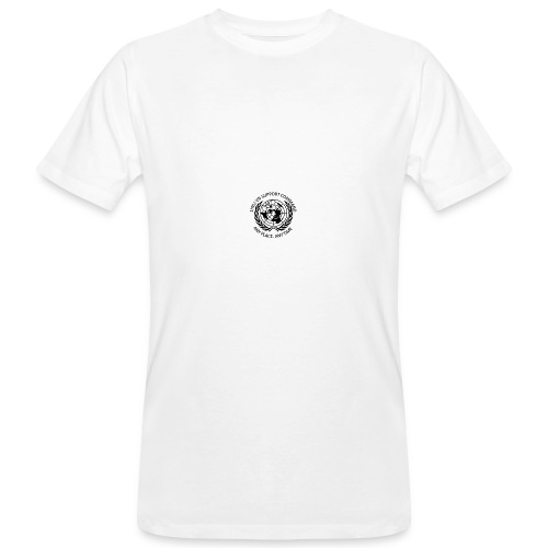 zwart borst - Mannen Bio-T-shirt