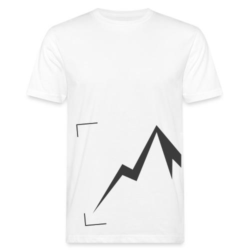 Expedition Marke Logo Ausschnitt, large, black - Männer Bio-T-Shirt
