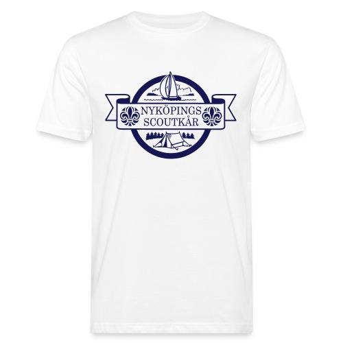 Kårlogotyp med bakgrund (blå) - Ekologisk T-shirt herr