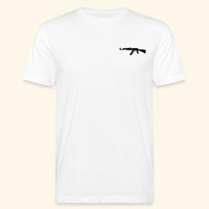 AK 47 Tee - Only White - T-shirt ecologica da uomo