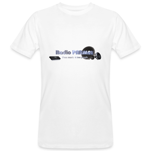 Radio PARALAX Facebook-Logo - Männer Bio-T-Shirt