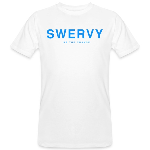 SWERVY BE THE CHANGE - BLUE - Men's Organic T-Shirt