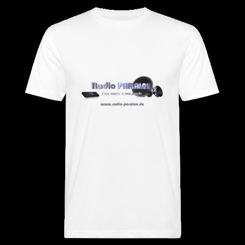 Radio PARALAX Facebook-Logo mit Webadresse - Männer Bio-T-Shirt