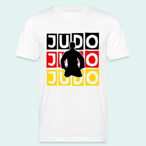 Judo Motiv Schwarz Rot Gold - Männer Bio-T-Shirt