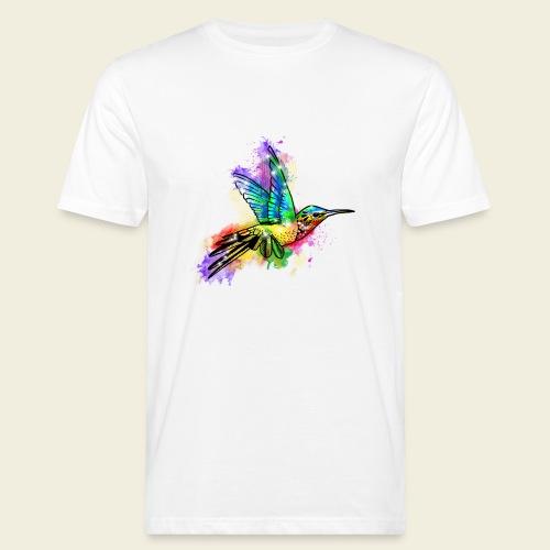 Farbexplosion Kolibri - Männer Bio-T-Shirt