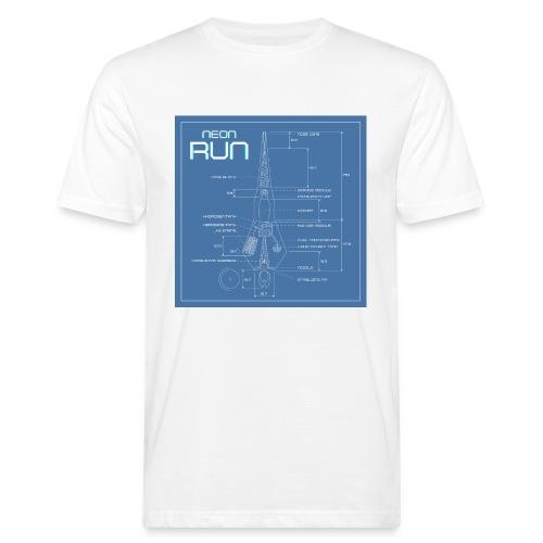 NeonRun blueprint - Mannen Bio-T-shirt