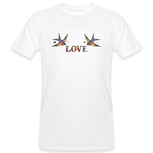 A Pair Of Swallows In Love - Men's Organic T-Shirt