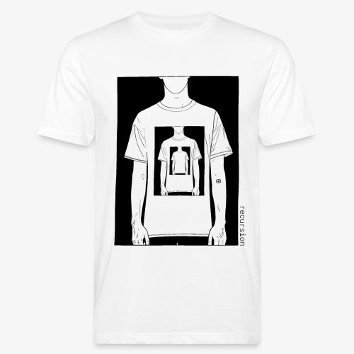Recursion | Loop | Repeat | Optical illusion - Men's Organic T-Shirt