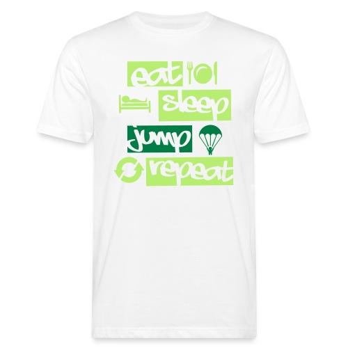 Eat Sleep Jump Repeat - Männer Bio-T-Shirt