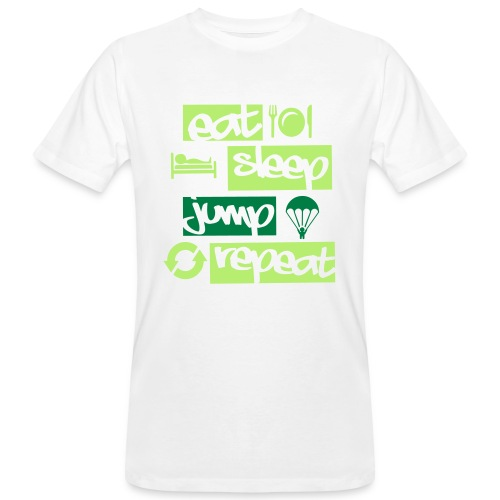 Eat Sleep Jump Repeat - Männer Bio-T-Shirt