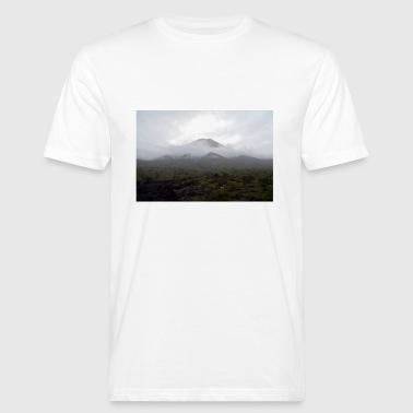 En vulkan i tåken - Økologisk T-skjorte for menn