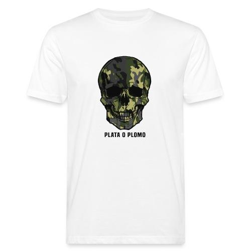 Colombian skull - plata o plomo - Männer Bio-T-Shirt