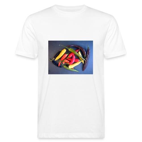 Chili bunt - Männer Bio-T-Shirt