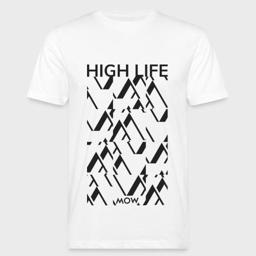 Mow - High Life (ZEBRA Schwarz) - Männer Bio-T-Shirt