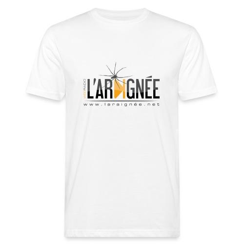 L'ARAIGNÉE, logo noir - T-shirt bio Homme