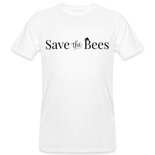 Save The Bees (Black) T-Shirt - Men's Organic T-Shirt