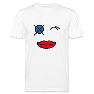 Häusliche Gewalt Smiley - Männer Bio-T-Shirt
