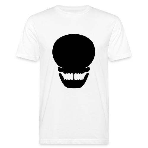 Totenkopf siuette - Männer Bio-T-Shirt