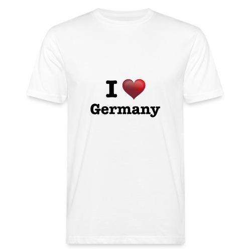 I Love Germany für echte Deutschland Fans - Männer Bio-T-Shirt