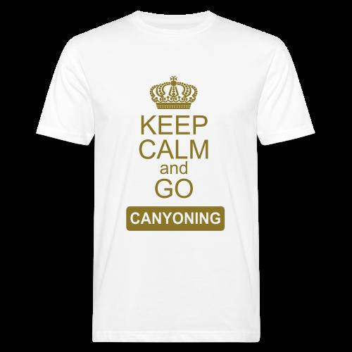 keep calm and go canyoning 2 - Männer Bio-T-Shirt