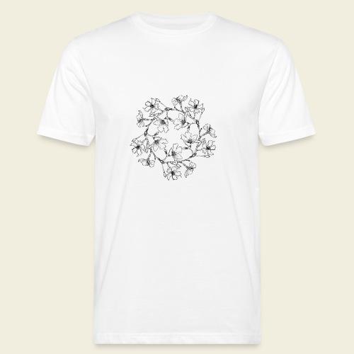 Blütenkreis - Männer Bio-T-Shirt