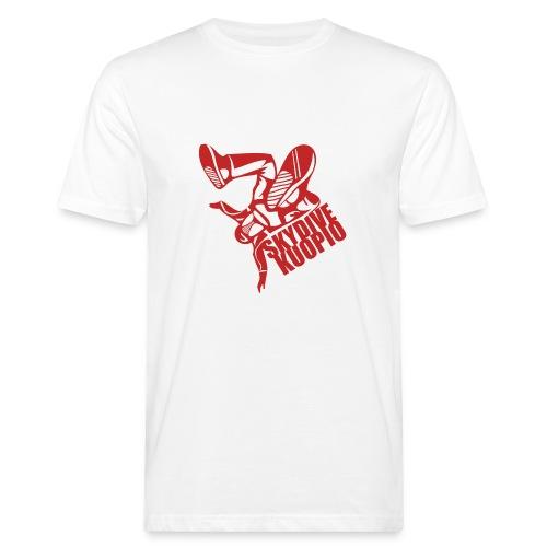 KLU logo red - Miesten luonnonmukainen t-paita
