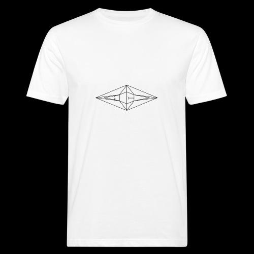 Schwarz-Weiß Meo Logo - Männer Bio-T-Shirt