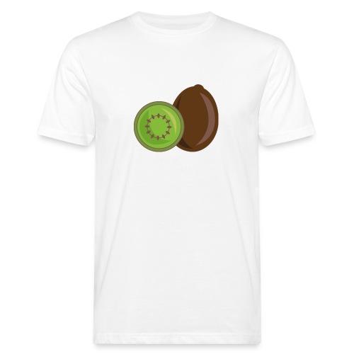 Kiwi logo - Männer Bio-T-Shirt