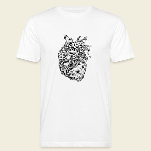 Kolibri Herz - Männer Bio-T-Shirt