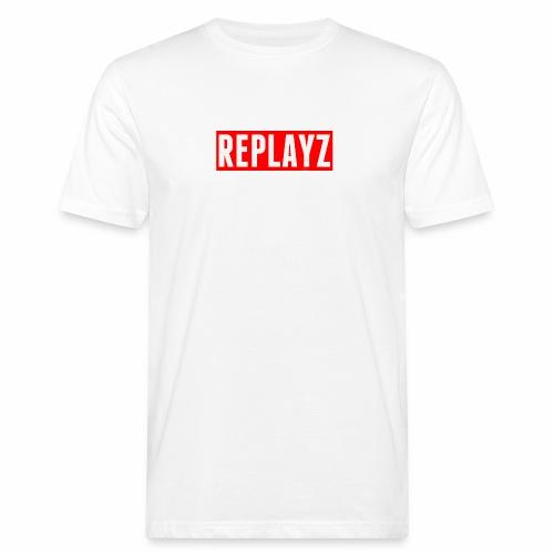 Replayz Red Box Logo - Men's Organic T-shirt