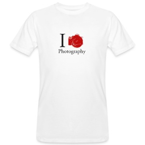 I Love Photography Collection - Männer Bio-T-Shirt