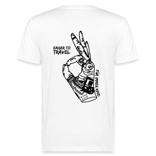 Eager To Travel - Für immer Kind - Weiß - Männer Bio-T-Shirt