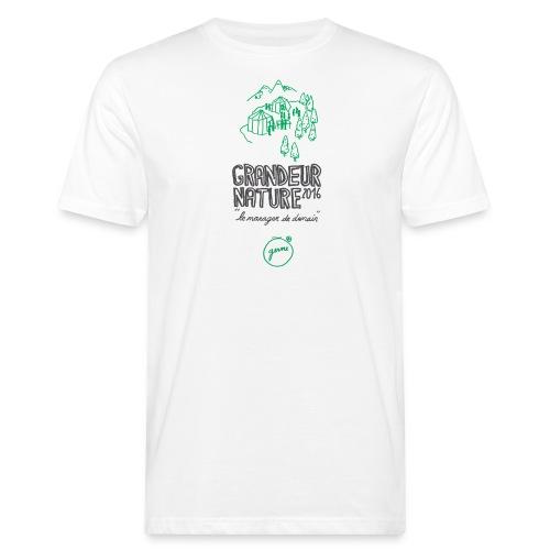 GN-montagnes-logo-titre-T - T-shirt bio Homme