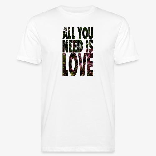 All You need is love - Ekologiczna koszulka męska