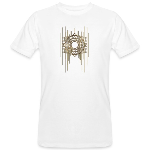Abstract Geometry Gold Metal Art Deco Vintage - Men's Organic T-Shirt