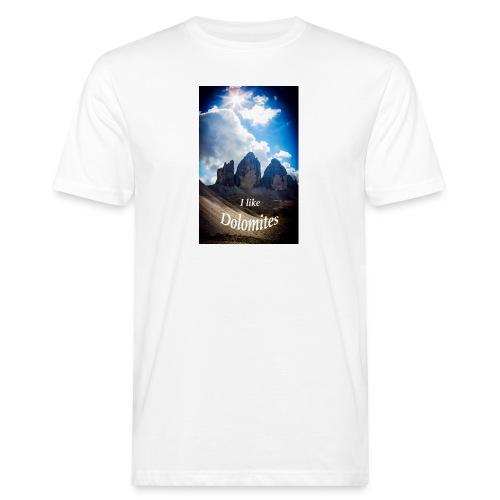 I like Dolomites Kopie - Männer Bio-T-Shirt