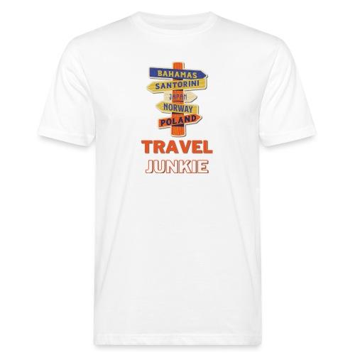 traveljunkie - i like to travel - Männer Bio-T-Shirt