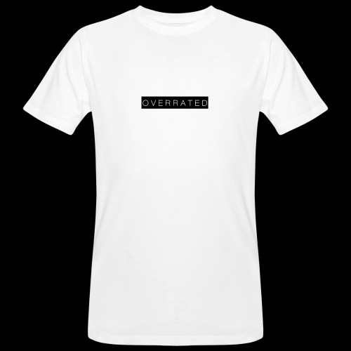 Overrated Black white - Mannen Bio-T-shirt