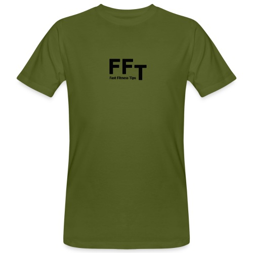 FFT simple logo letters - Men's Organic T-Shirt