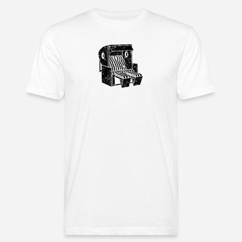 Strandkorb Illustration von Clarissa Schwarz - Männer Bio-T-Shirt
