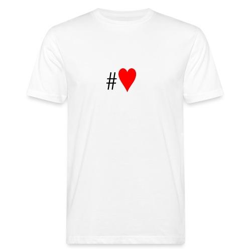 Hashtag Heart - Men's Organic T-Shirt