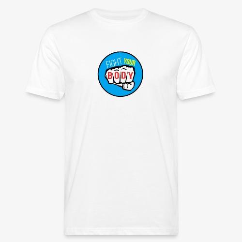 logo fyb bleu ciel - T-shirt bio Homme