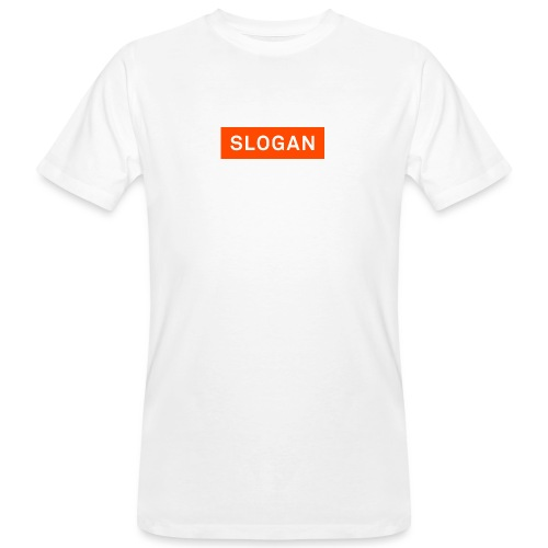 Slogan Logo - Miesten luonnonmukainen t-paita