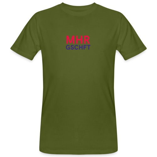 MHR GSCHFT (rot/blau) - Männer Bio-T-Shirt