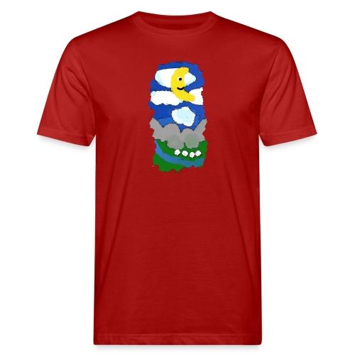 smiling moon and funny sheep - Men's Organic T-Shirt