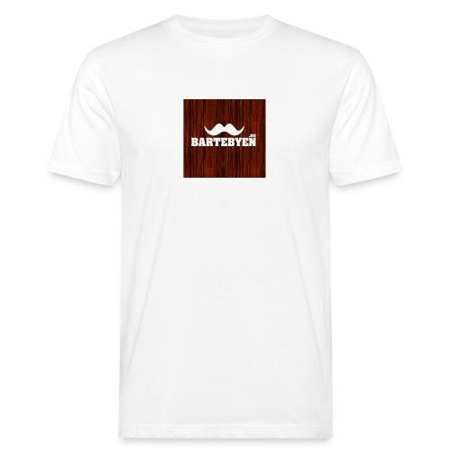 logo bartebyen buttons - Økologisk T-skjorte for menn